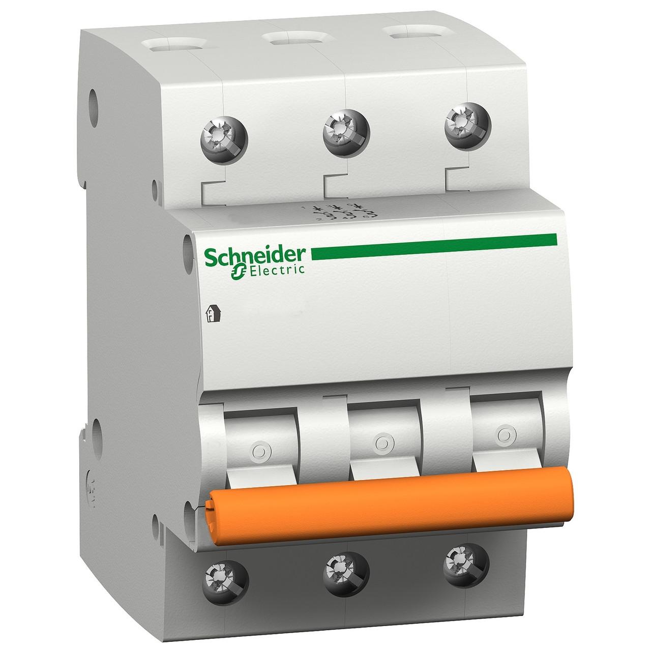 Автоматичний вимикач Schneider Electric Домовий ВА63 3p 6A C 4,5kA 11221