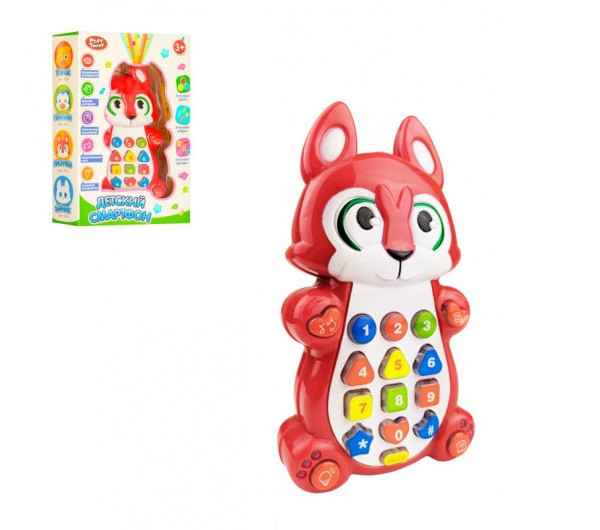 """Інтерактивна іграшка """"Дитячий смартфон"""" Play Smart 7614 (Лисичка)"""