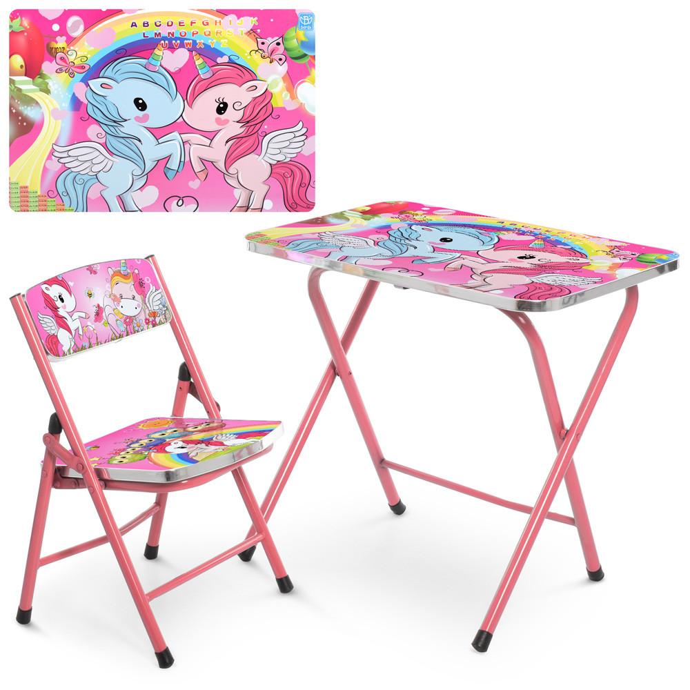 Детский складной металический столик со стульчиком (A19-NEW UNI2)