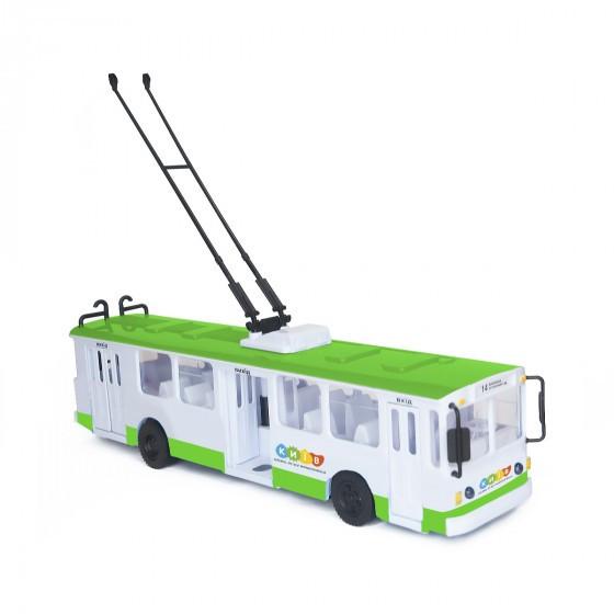 Модель - Троллейбус Big Киев (свет, озвуч. укр. яз) Technopark SB-17-17WBK