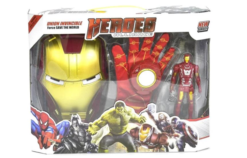 Ігровий набір супергероя - Залізної людини. Маска, фігурка, дискомет, метальні диски, мішень.