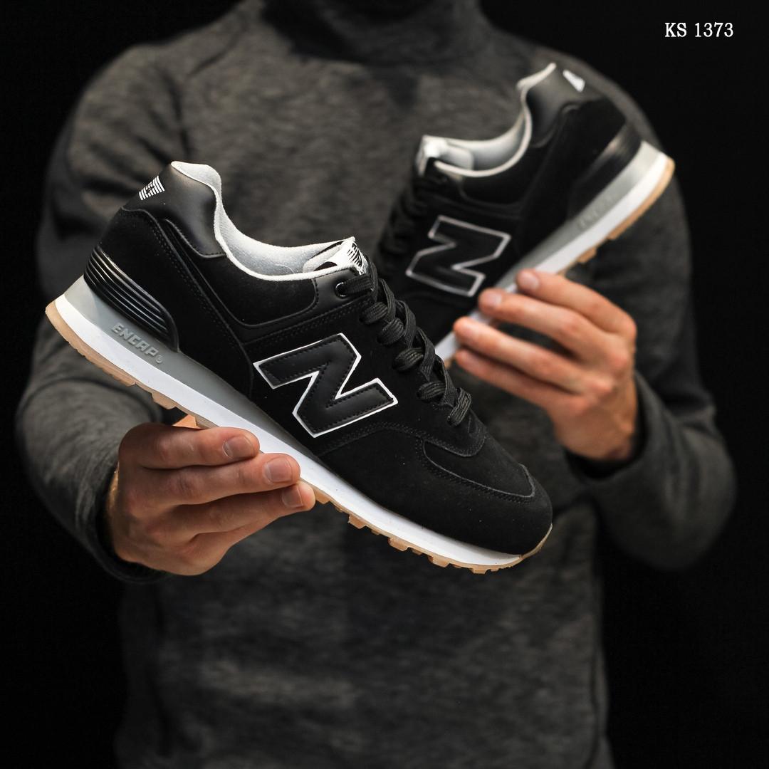 Чоловічі кросівки New Balance 574, чорні / кросівки Нью Баланс (Топ репліка ААА+)