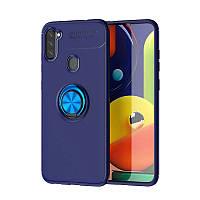 Чехол Fiji Hold для Samsung Galaxy M11 (M115) бампер накладка с подставкой Blue