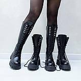 Ботинки кожаные черные высокие, фото 2