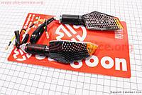 Светодиодные поворотники карбон на мототехнику