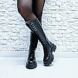 Ботинки кожаные черные высокие, фото 3