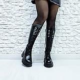 Ботинки кожаные черные высокие, фото 4