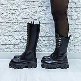 Ботинки кожаные черные высокие, фото 5
