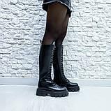 Ботинки кожаные черные высокие, фото 6