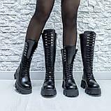 Ботинки кожаные черные высокие, фото 7
