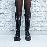 Ботинки кожаные черные высокие, фото 8
