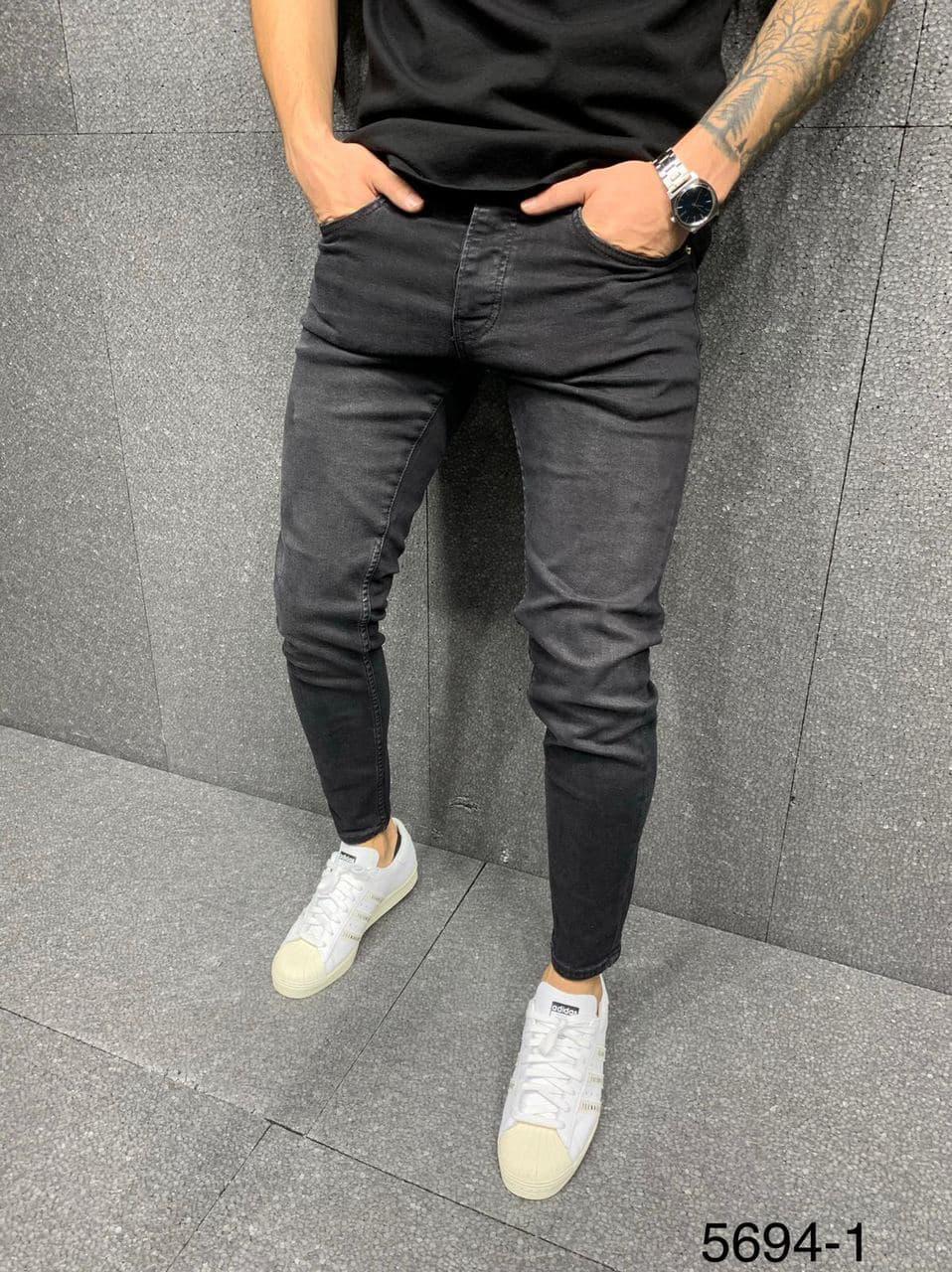 Мужские джинсы графит 2Y Premium 5694-1