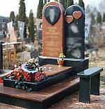 Изготовление комбинированных  памятников на двоих, фото 5