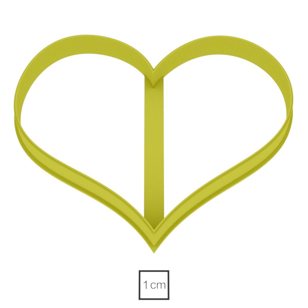 Висічка для пряників у вигляді сердечка