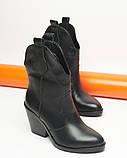 Казаки ботинки черные кожаные, фото 2