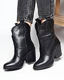 Казаки ботинки черные кожаные, фото 3