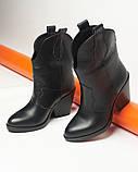 Казаки ботинки черные кожаные, фото 4