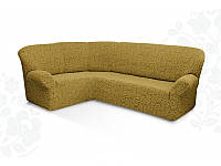 Чехлы на угловой диван и кресло жаккардовые, бежевый