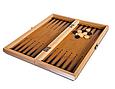 Шахматы, шашки, нарды 3 в 1 бамбуковые B 3135 (фигурки-дерево, доска 34x34 см) Т, фото 3
