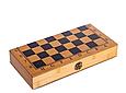 Шахматы, шашки, нарды 3 в 1 бамбуковые B 3135 (фигурки-дерево, доска 34x34 см) Т, фото 4