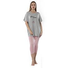 Піжама жіноча з короткими рукавами віскозна оверсайз Petitdegeuner 2XL-5XL