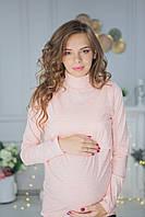7706 Гольф-водолазка для беременных Розовый, фото 1