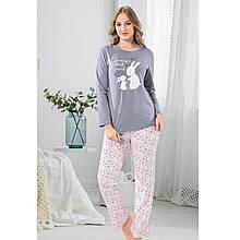 Пижама для девушек серая брючная для сна хлопковая Mummy`s best friend S-XL