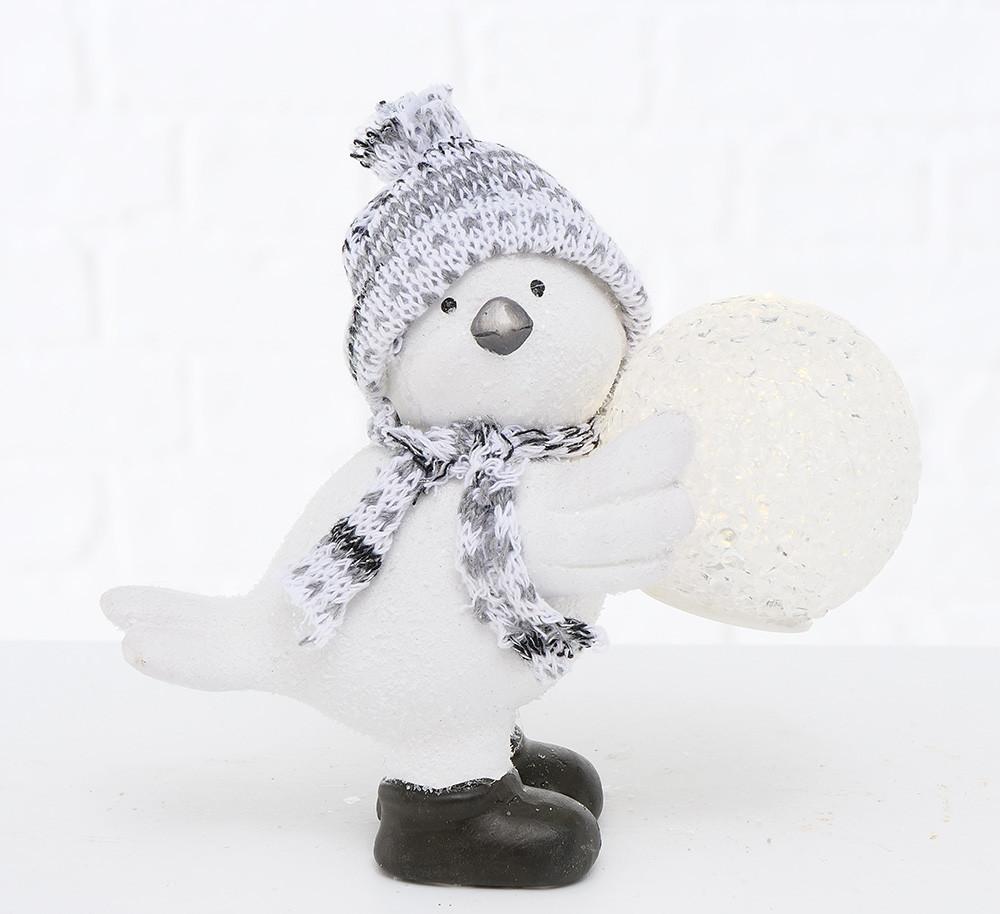 Статуэтка птица Тенни с LED подсветкой керамика h12.5см Гранд Презент 2002621