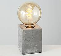 """Настольная лампа ночник """"Тесла"""" серый бетон h10см (комплект светильник и лампа) Boltze 1009768"""