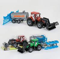 Инерционный трактор с прицепом