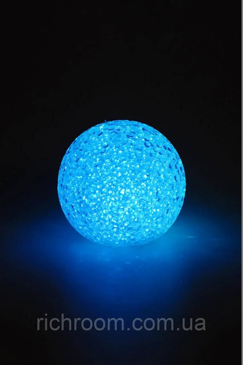 Світлодіодний LED куля Ø 8 см Christmas gifts, з крапельок силікону