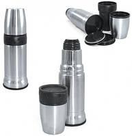 Металлический термос 2 в 1 0,9 литра