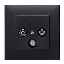 Рамка 1X, Lumina-Intens черная, фото 2