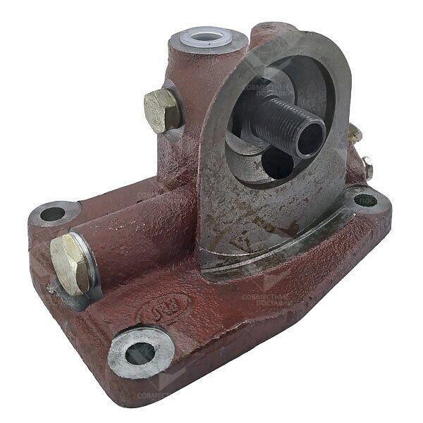 Корпус 245-1017015-Б крепления фильтра (вместо центрифуги) фильтр сверху Д-243, МТЗ-80 (пр-во БЗА, Беларусь)