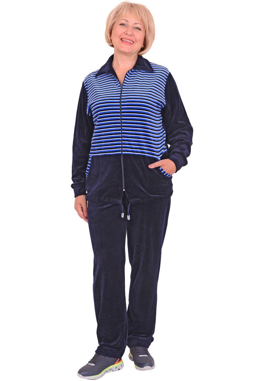 Женский велюровый спортивный костюм (размеры XL-4XL)  продажа, цена ... aa2de59ad1f
