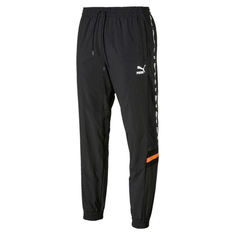 Штаны спортивные Puma XTG Woven Pant 595319 51 (черные, мужские, нейлон, стандартная посадка, логотип пума)