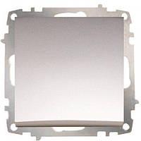 Выключатель 1-ый проходной модуль серебряный EL-BI Zena