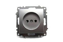 Розетка 1-а модуль серебряная EL-BI Zena