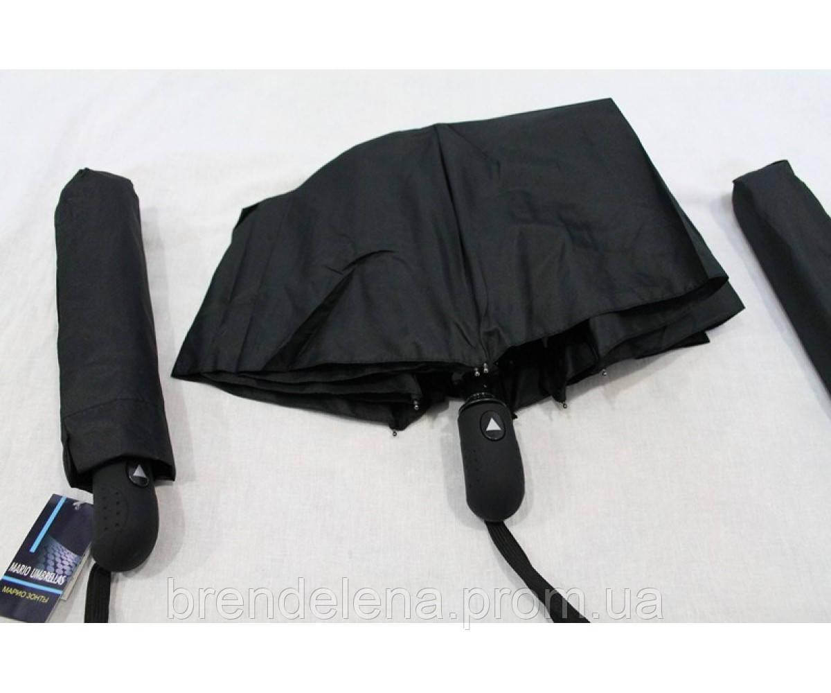 Мужской зонт в 3 сложения черный