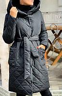 Женское трендовое стеганное пальто плотная плащевка , синтепон 250 Размеры 42-44,46-48,50-52