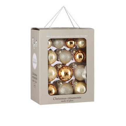 """Елочные шарики 26 шт, Ø 7/6/5 см, """"House of Seasons"""" комплект, цвет шампань, фото 2"""