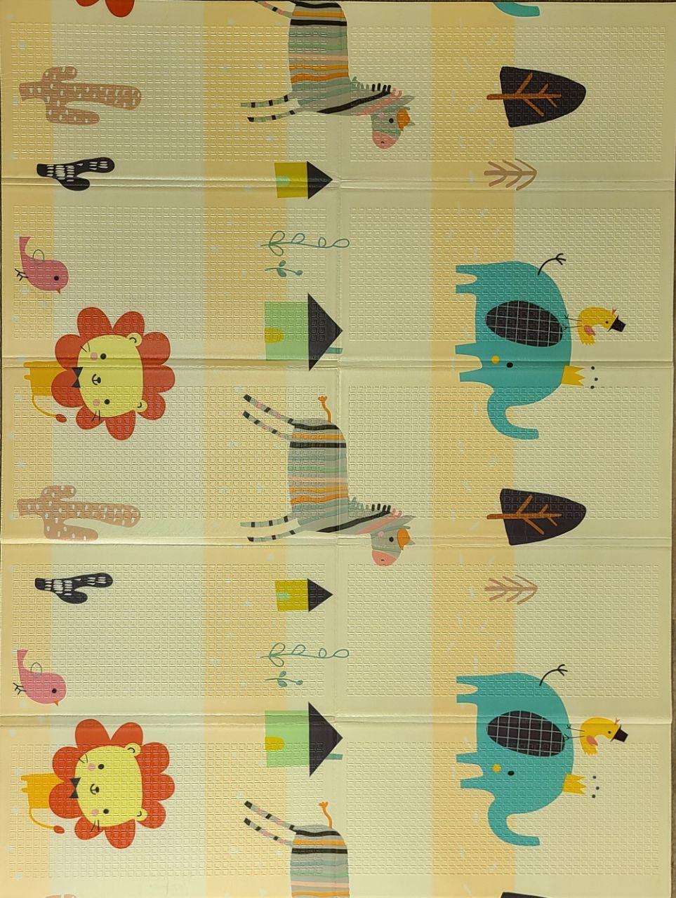 Развивающий двухстронний складной детский игровой термо коврик для ползания  1500*2000