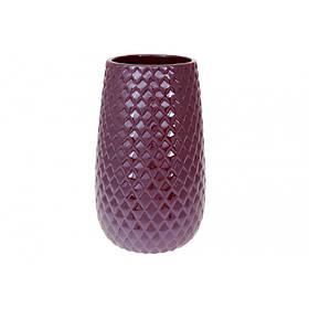 Ваза керамическая 24,5 см бордовый перламутр BonaDi 733-374