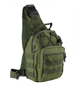 Рюкзак однолямочный через плечо олива