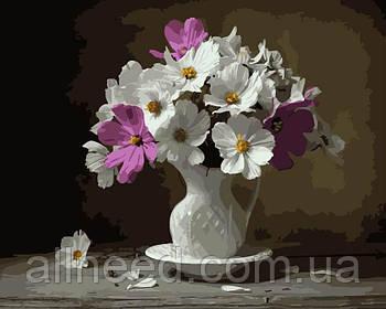 Картина по номерам цветы Космеи