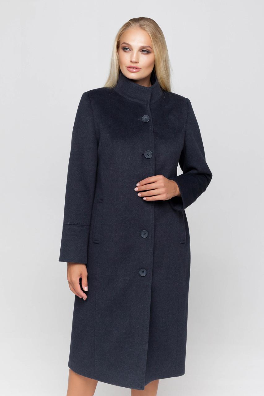 Пальто женское шерстяное длинное демисезонное Ода морская волна цвет