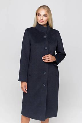 Пальто женское шерстяное длинное демисезонное Ода морская волна цвет, фото 2