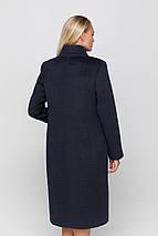 Пальто женское шерстяное длинное демисезонное Ода морская волна цвет, фото 3