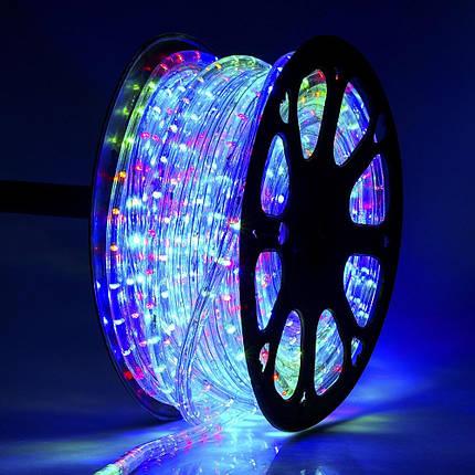 Светодиодная Гирлянда Дюралайт 50 м., Мультицвет с Переходником 220V, фото 2