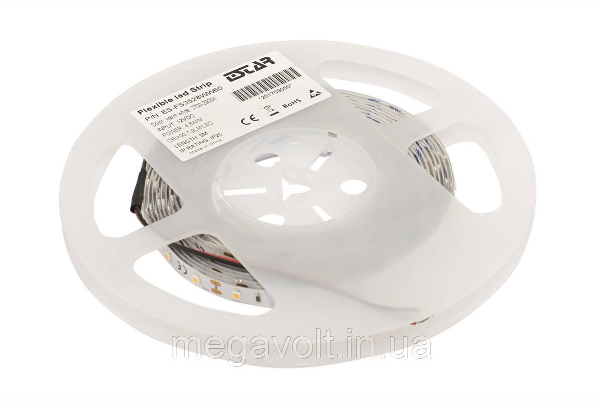 Светодиодная лента ESTAR SMD 3528/60 (IP20) premium 12V тёпло-белая (2700-2900К)